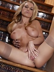 Randy Moore plays her tits and massages her aroused clit